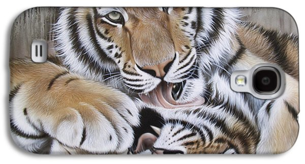 Airbrush Galaxy S4 Cases - Dianas Duo Galaxy S4 Case by Sandi Baker