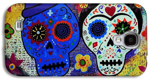 Diego Rivera Galaxy S4 Cases - Diego Rivera And Frida Kahlo Dia De Los Muertos Galaxy S4 Case by Pristine Cartera Turkus
