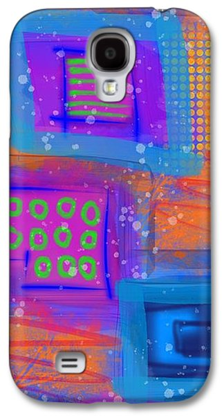 Blue Abstracts Galaxy S4 Cases - Digi 1 Galaxy S4 Case by Brittany Houchin