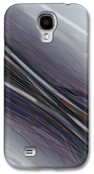 Blue Abstracts Galaxy S4 Cases - Digi 3 Galaxy S4 Case by Brittany Houchin