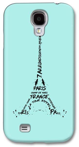 Digital-art Eiffel Tower Galaxy S4 Case by Melanie Viola