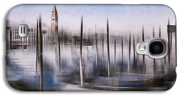 Abstract Sights Digital Galaxy S4 Cases - Digital-Art VENICE Grand Canal and St Marks Campanile Galaxy S4 Case by Melanie Viola