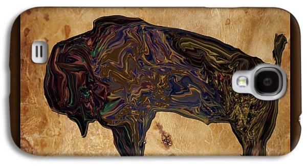 Bison Digital Art Galaxy S4 Cases - Digital Bison Galaxy S4 Case by Kae Cheatham