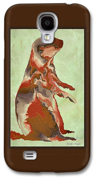 Dogs Digital Art Galaxy S4 Cases - Digital Prairie Dog Galaxy S4 Case by Kae Cheatham