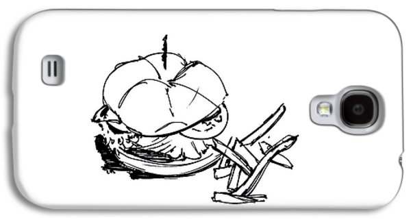Diner Drawing Charbroiled Chicken 1 Galaxy S4 Case by Chad Glass