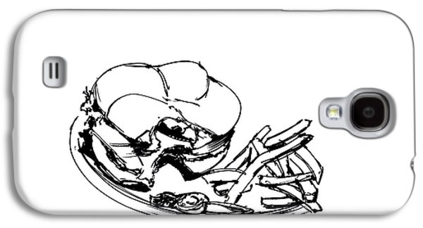 Diner Drawing Charbroiled Chicken 2 Galaxy S4 Case by Chad Glass