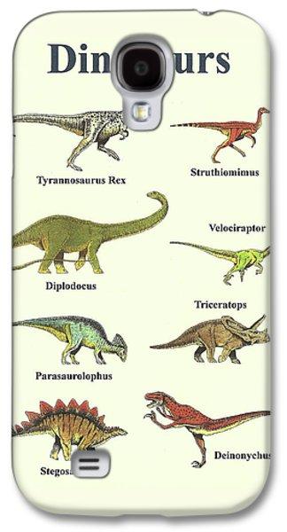 Dinosaurs Collage - Portrait Galaxy S4 Case by Michael Vigliotti