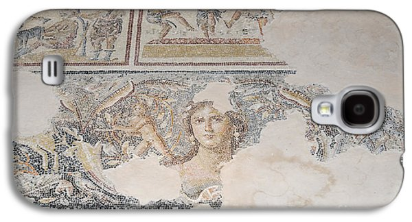 Landmarks Photographs Galaxy S4 Cases - Dionysus Mosaic Mona Lisa of the Galilee Galaxy S4 Case by Ilan Rosen
