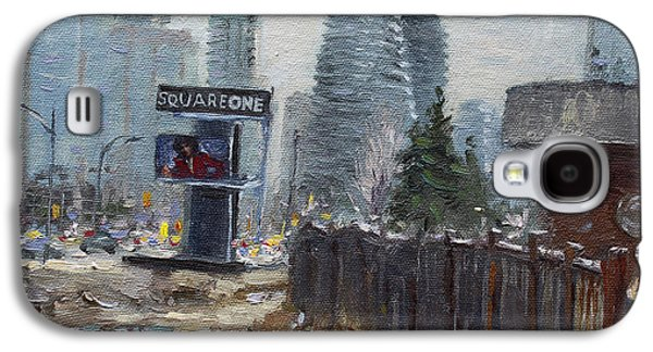 Fence Paintings Galaxy S4 Cases - Square One Mississauga Galaxy S4 Case by Ylli Haruni
