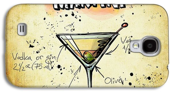 Digital Drawings Galaxy S4 Cases - Dirty Martini Recipe Galaxy S4 Case by Alexas Fotos