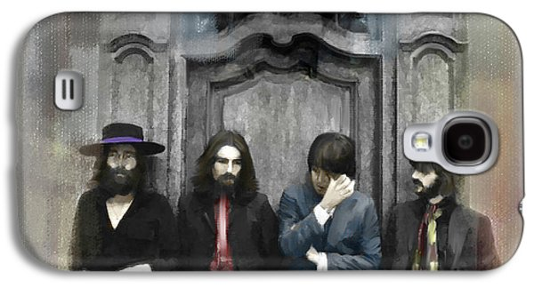 Beatles Drawings Galaxy S4 Cases - Discontent IV The Beatles Galaxy S4 Case by Iconic Images Art Gallery David Pucciarelli