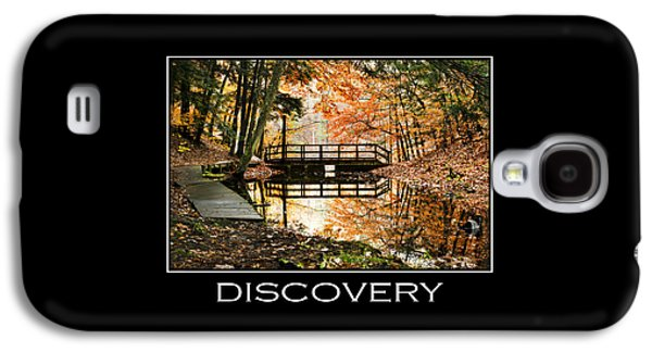 Discovery Inspirational Motivational Poster Art Galaxy S4 Case by Christina Rollo