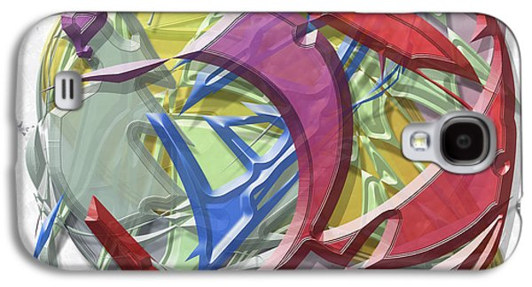 Colorful Abstract Galaxy S4 Cases - Dishwasher Galaxy S4 Case by Warren Lynn
