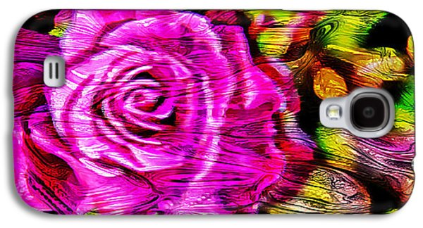 Abstract Digital Galaxy S4 Cases - Distorted Romance Galaxy S4 Case by Az Jackson