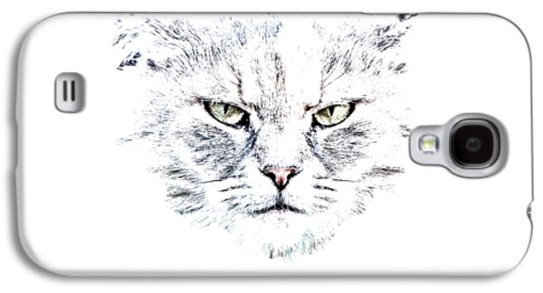 Disturbed Cat Galaxy S4 Case by Everet Regal