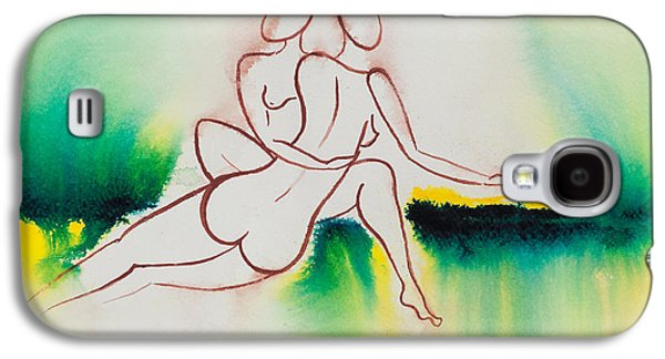 Lesbian Paintings Galaxy S4 Cases - Divine Love Series No. 2090 Galaxy S4 Case by Ilisa  Millermoon