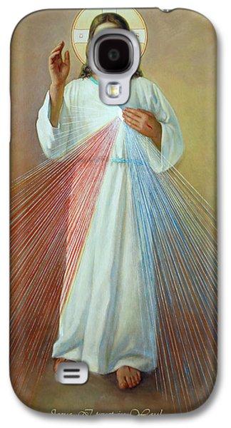 Hope Digital Art Galaxy S4 Cases - Divine Mercy. Jesus I Trust in You Galaxy S4 Case by Svitozar Nenyuk