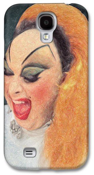 Lesbian Paintings Galaxy S4 Cases - Divine Galaxy S4 Case by Taylan Soyturk