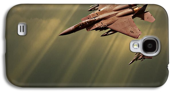 Dogfight Galaxy S4 Cases - Diving Eagles Galaxy S4 Case by Meirion Matthias