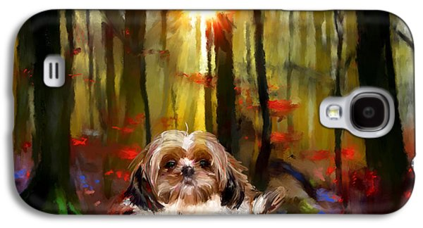 Dogs Digital Galaxy S4 Cases - Do Nothing Galaxy S4 Case by Richard Okun