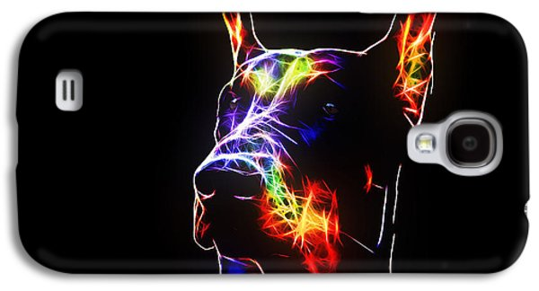 Dogs Digital Art Galaxy S4 Cases - Doberman Galaxy S4 Case by Denis Bajan