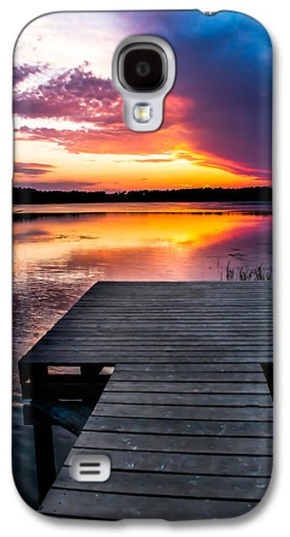Waterscape Galaxy S4 Cases - Dock at Sunset Galaxy S4 Case by Shelby  Young