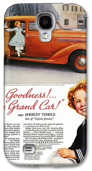 Dodge Automobile Ad, 1936 Galaxy S4 Case by Granger