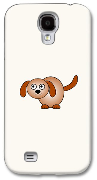 Recently Sold -  - Girl Galaxy S4 Cases - Dog - Animals - Art for Kids Galaxy S4 Case by Anastasiya Malakhova