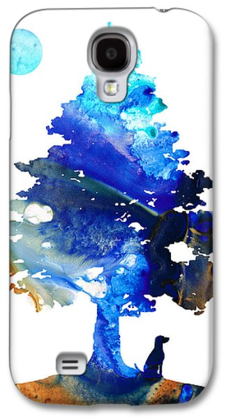 Abstract Nature Mixed Media Galaxy S4 Cases - Dog Art - Contemplation - By Sharon Cummings Galaxy S4 Case by Sharon Cummings