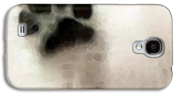 Modern Digital Art Galaxy S4 Cases - Dog Art - I Paw You Galaxy S4 Case by Sharon Cummings