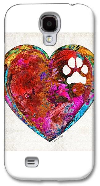 Dog Art - Puppy Love 2 - Sharon Cummings Galaxy S4 Case by Sharon Cummings