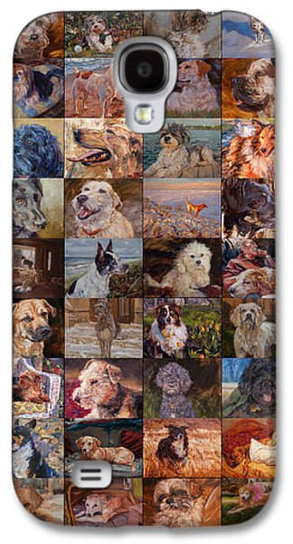 Recently Sold -  - Dogs Digital Galaxy S4 Cases - Dog Day Month Poster Galaxy S4 Case by James Swanson