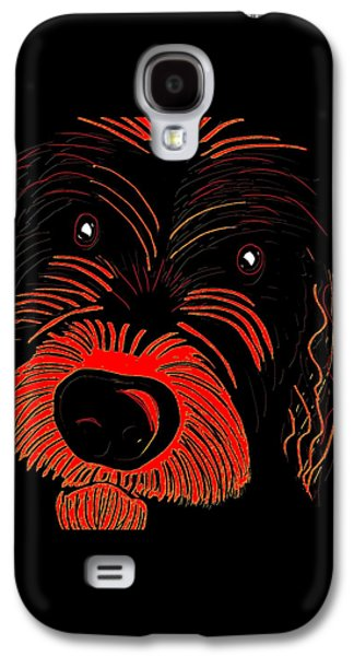 Dogs Digital Art Galaxy S4 Cases - Dog Galaxy S4 Case by Karen Harding