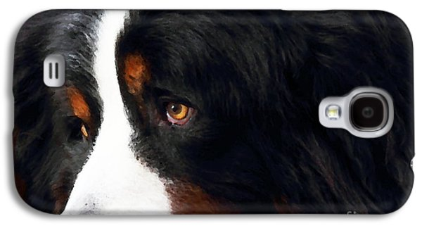 Puppy Digital Galaxy S4 Cases - Dog . Photo Artwork Galaxy S4 Case by Wingsdomain Art and Photography