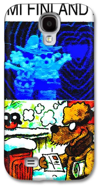 Animation Galaxy S4 Cases - Dog reading letter Galaxy S4 Case by Lanjee Chee