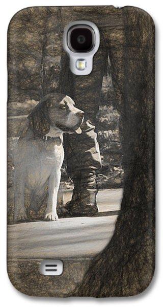 Puppy Digital Art Galaxy S4 Cases - Dog taking a break Galaxy S4 Case by Adrian Bud
