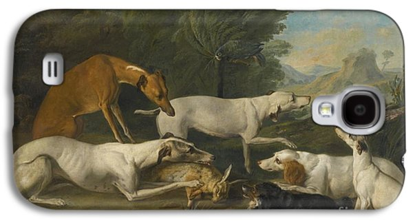 Dogs In A Landscape With Their Catch Galaxy S4 Case by Celestial Images