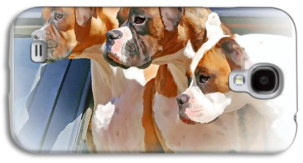 Boxer Galaxy S4 Cases - Dogs Life Galaxy S4 Case by Marcel  J Goetz  Sr