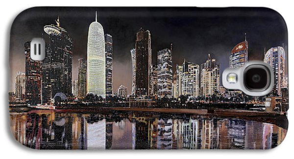 Starry Paintings Galaxy S4 Cases - Doha Qatar Galaxy S4 Case by Guido Borelli