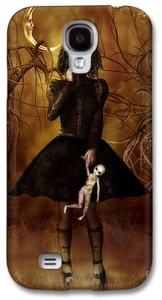 Spooky Digital Galaxy S4 Cases - Dolly Broke Galaxy S4 Case by Shanina Conway