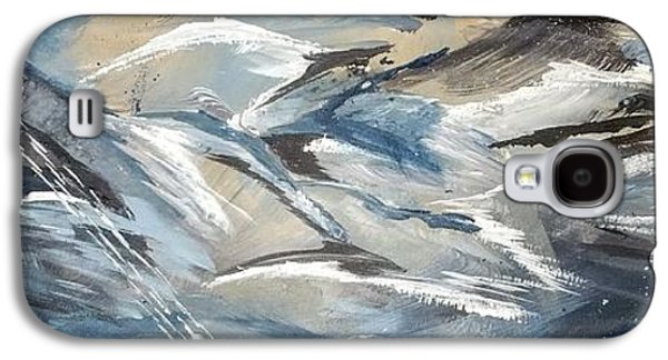 Abstract Movement Galaxy S4 Cases - Dolphin School Galaxy S4 Case by Cynthia Watke