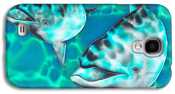 Dolphin Tapestries - Textiles Galaxy S4 Cases - Dolphins of Sanne Bay Galaxy S4 Case by Daniel Jean-Baptiste
