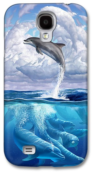 Dolphonic Symphony Galaxy S4 Case by Jerry LoFaro