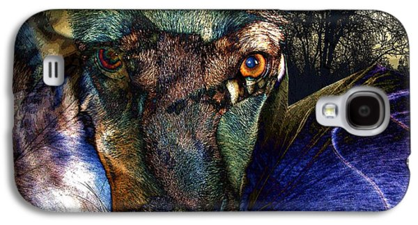 Dogs Digital Art Galaxy S4 Cases - Domesticated Galaxy S4 Case by Ron Bissett