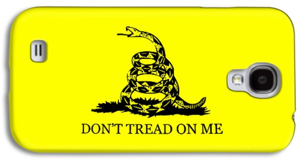Revolutionary War Mixed Media Galaxy S4 Cases - Dont Tread On Me Flag Galaxy S4 Case by War Is Hell Store