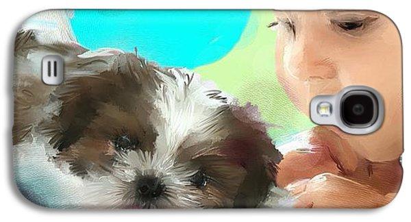 Dogs Digital Art Galaxy S4 Cases - Dont wait a single moment Galaxy S4 Case by Richard Okun