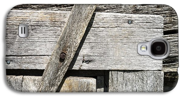 Log Cabin Interiors Galaxy S4 Cases - Door Latch on Log Building Galaxy S4 Case by Donald  Erickson