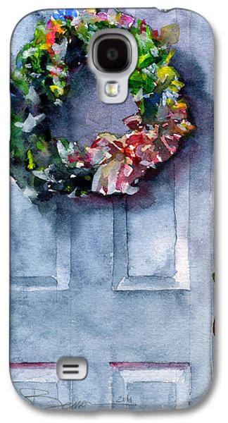 Wreath Paintings Galaxy S4 Cases - Door Wreath Galaxy S4 Case by John D Benson