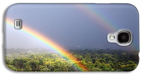 Rainbow Galaxy S4 Cases - Double Rainbows Galaxy S4 Case by Charline Xia