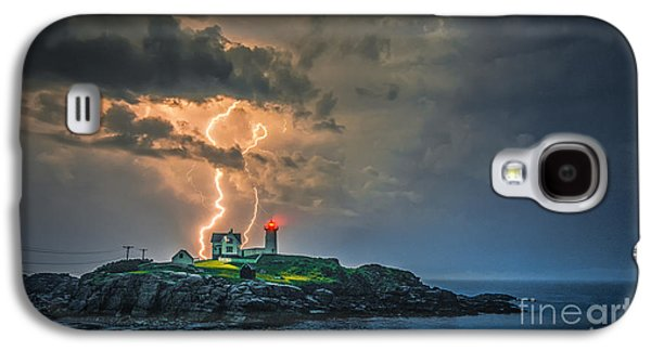 Cape Neddick Lighthouse Galaxy S4 Cases - Double Strike Galaxy S4 Case by Scott Thorp